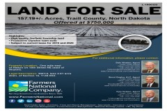 High Quality Garfield Township Land! 157.19 Acres, Traill County, North Dakota