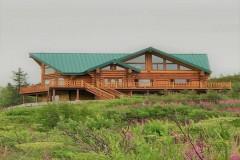$49,000 Buyer Credit for custom Fireplace Alaska Log Lodge / Home ''River Refuge'' 10 acres prime Alaskan Riverfront Fishing property
