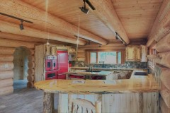 """NEW' Alaska Log Lodge / Home ''River Refuge'' 10 acres prime Alaskan Riverfront Fishing property"